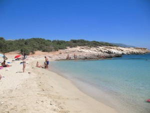 Alyko beach in Naxos