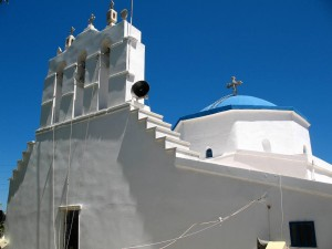 Agia Marina Church in Koronos Naxos