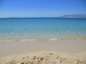 Plaka beach in Naxos