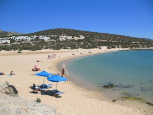 Pyrgaki beach in Naxos