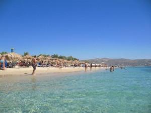 Plaka beach in Naxos