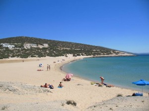Pyrgaki beach in Naxos