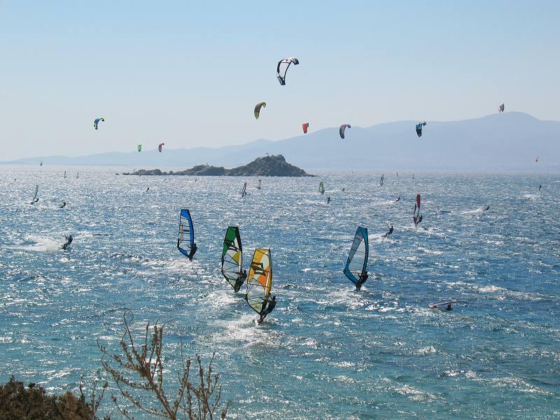 Wind Surfing in Naxos