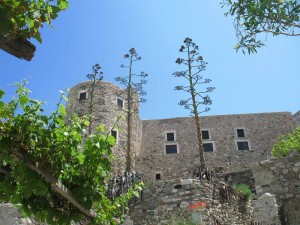 The Venetian medieval Castle in Naxos
