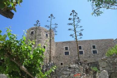 The Venetian medieval Castle in Naxos
