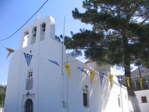 Taxiarches Church in Kerami (Halki)